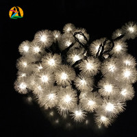 10M 60 LEDs Snow Flakes Snowball Solar LED Lighting Strings For Parties and Events All Holidays Outdoor Garden Decoration Lights