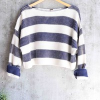 free people - just my stripe pullover - navy