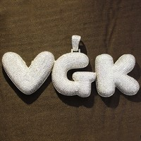 Iced Out Big Size Custom Bubble Alphabet Letters