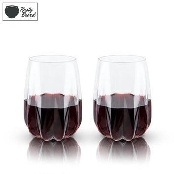 Crystal Cactus Wine Glasses