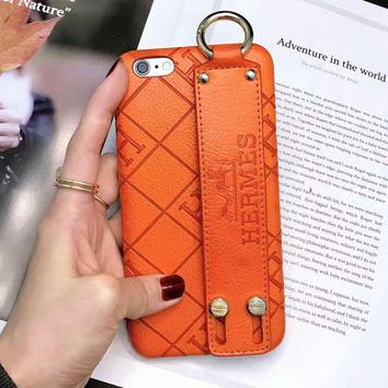 HERMES alphabet print iPhone Phone Cover Case For iphone 6 6plus 7 7plus H-AGG-CZDL-1