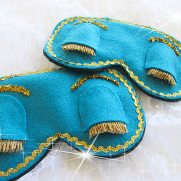 Breakfast at Tiffany Sleep Mask- Teal Sleep Mask-Audrey Hepburn Sleep Mask-Blindfold-Eye Pillow.