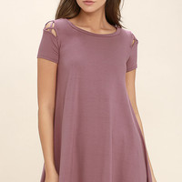 Take Effect Mauve Swing Dress