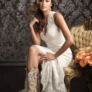 DreamDressy Hot-selling Elegant Ivory Lace Wedding Dresses/Bridal Dresses WD-31 = 1932459652