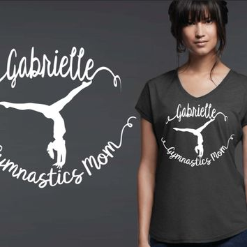 Gymnastics Mom Personalized T-shirt