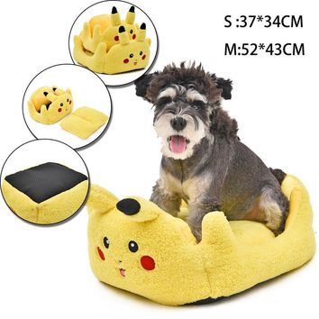 Pikachu Pet Dog Bed  Go Pet Products Soft Bed For Puppy Dog House Small Dog Kennel Soft Cat Bed Dog Supplies For AnimalsKawaii Pokemon go  AT_89_9