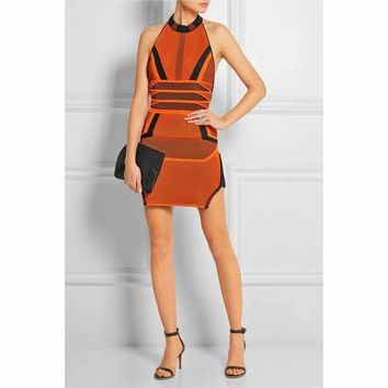 Tandy Orange Multi Bandage Dress