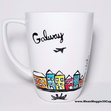 Galway artwork - Unique Long Distance Mug