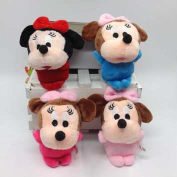 Hot Lovely Mickey Mouse & Minnie Mouse Plush Toys 10CM Stuffed Cartoon Anime Dolls Children Baby Stuffed Toys For Kids toys Gift