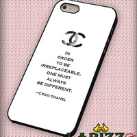 """Coco Chanel Quotes for iPhone 4/4s, iPhone 5/5S/5C/6/6+, Samsung S3/S4/S5, Samsung Note 3/4 Case """"007"""""""