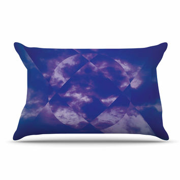 "Matt Eklund ""Spectral"" Purple Blue Pillow Case"