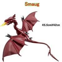 Mailackers 931 Legoing The Hobbit Smaug Dragon Building Blocks Model Compatible With Legoings Lord of the Rings Figures Toys