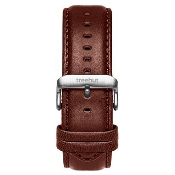 20mm Brown Padded Leather Band