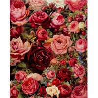 Frameless Picture Romantic Red Rose DIY Painting By Numbers Kits Acrylic Paint By Numbers Modern Wall Art Picture For Home Decor