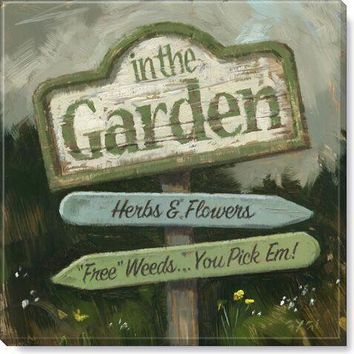 Gallery Wrap on Wood Frame ~ Garden Sign