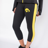 Iowa Hawkeyes Womens Yoga Capri Pant (Black)