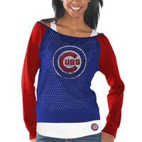 Chicago Cubs Womens Holy Long Sleeve T-Shirt and Tank Top - Royal Blue