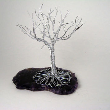 Deep Purple - A twisted wire tree sculpture.