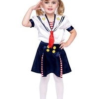 Sailorette Toddler Costume From Creative Kidstuff Educational Toys, Books and Games at Creative Kidstuff