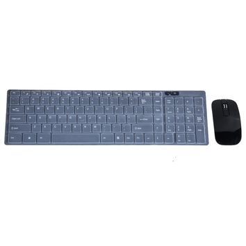 2.4GHz Optical Wireless Keyboard and Mouse Set with Cover USB Teclado E Mouse Sem Fio Keypad for PC Computer Laptop Notebook