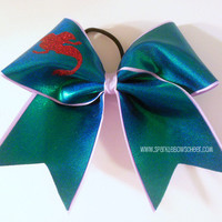Princess Ariel Inspired Large Cheer Bow Hair Bow Cheerleading