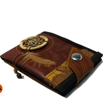 Tribal Womens Wallet, Vegan Leather Wallet for Women, Ladies Wallets, Tribal Boho Wallet for Woman with Coin Pocket - UNUSUAL Wallet