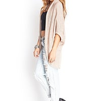 FOREVER 21 Drapey Batwing Cardigan Taupe/Taupe Sm/Med