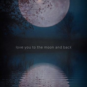 LOVE you to the moon and back Art Print by SUNLIGHT STUDIOS  Monika Strigel
