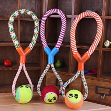 Durable Rope Braided Ball Dog Chew Toys