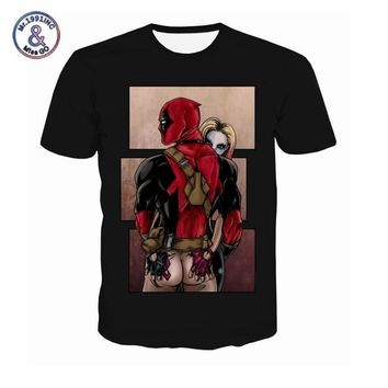 Deadpool Dead pool Taco American Comic Marvel T Shirt Men Women  Suicide Squad T-Shirt Characters 3D Funny Harley Quinn Tee shirts Summer AT_70_6