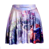 Beauty and the Beast Skater Skirt