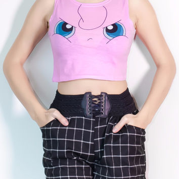 Angry Jigglypuff Crop Top