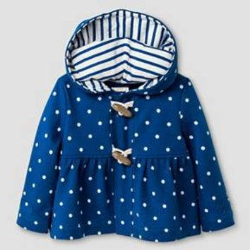 Baby Girls' Polka Dot Hoodie Baby Cat & Jack™ - Blue