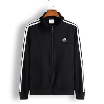 Adidas men's and women's fall jackets with loose cotton men's stand-up classic hoodies