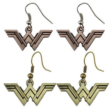 2017 Movie Wonder Woman Earrings Justice League Style Drop Earring Geeky Accessory Comic Superhero Cosplay Jewelry Drop Shipping