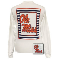 Mississippi Ole Miss Rebels Preppy Glitter Logo Girlie Long Sleeves T Shirt