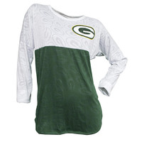Green Bay Packers Cameo Burnout Long Sleeve