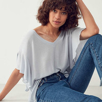Kimchi Blue Charlotte Oversized Ruffle Sleeve Tee | Urban Outfitters