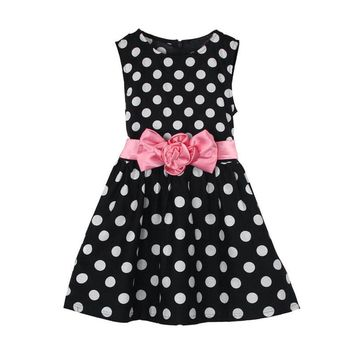 Kids Baby Girls Dress Summer Clothes Polka Dot girl dresses for Party Pageant Princess sleeveless Peng Peng dress girl Drop ship