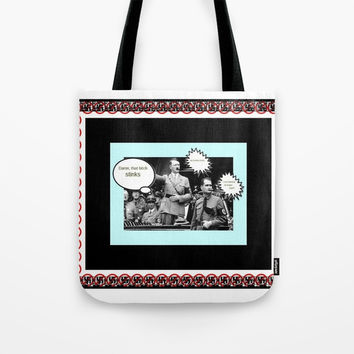 funwithhitler 2 Tote Bag by Kathead Tarot/David Rivera