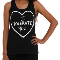I Tolerate You Girls Tank Top