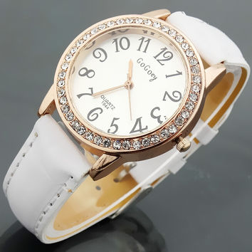 Crystal Round Watch