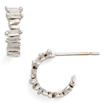 Suzanne Kalan Mini Baguette Hoop Earrings | Nordstrom