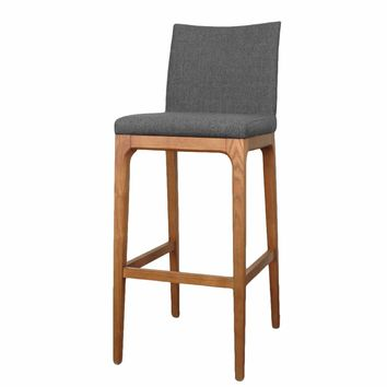 Charles Bar Stool Set of 2 CHARCOAL
