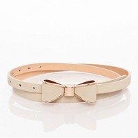 Take a Bow Belt in Taupe - ShopSosie.com