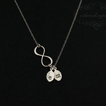 Infinity Necklace  Personalized Charm by ACharmedImpression