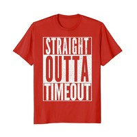 Straight Outta Timeout Funny Boy Girl Toddler T-Shirt Gift