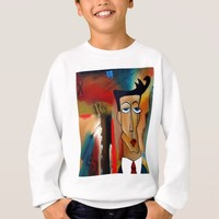 merger-abstract art sweatshirt