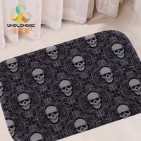 40x60cm/15.6x23.6'' Skull Mat Floor Carpet Letter Coral Fleece Rug Doormat For Hallway Non-slip 1PCS/Lot