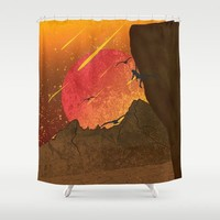 When The Red Moon Appears Shower Curtain by Berwies